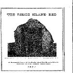 A History of the Rhode Island Red 1854-1954 booklet, 1954